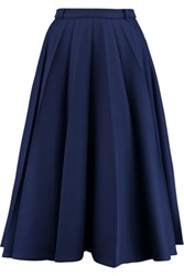 Vionnet Pleated Woven Skirt Midnight Blue