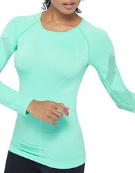 Mpg Unify Mesh Paneled Seamless Top Cool Teal