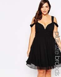 Forever Unique Plus Sweetheart Prom Dress With Off Shoulder Black