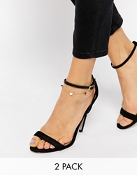 Asos Heart Anklet And Toe Ring Pack Gold