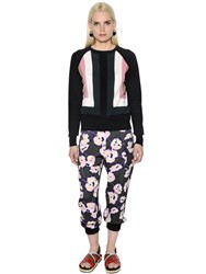 Marni Geometric Intarsia Silk Knit Sweater