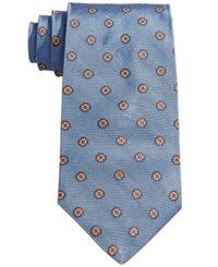 Brooks Brothers Men's Neat Floral Tie Blue