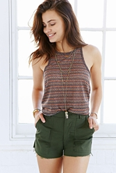 Bdg Printed Cut In Tank Top Green