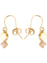 Wouters And Hendrix 'Playfully Precious' Moonstone Earrings Metallic