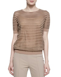 Escada Dot Striped Mesh T Shirt Pampas