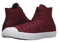 Converse Chuck Taylor All Star Ii Hi Deep Bordeaux White Navy Classic Shoes Red