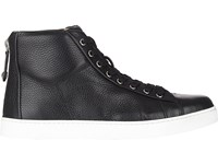 Gianvito Rossi Men's Back Zip Sneakers Black