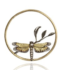 Annoushka Hoopla Dragonfly Diamond Pendant Female Gold