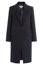 Zadig And Voltaire Coat With Wool Blue
