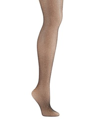 Kate Spade Sparkle Fish Net Tights Black