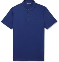 Michael Kors Slim Fit Cotton Polo Shirt Blue