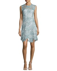 Catherine Deane Sleeveless Lace Cocktail Dress Light Blue