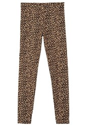American Apparel Leggings Leopard Brown