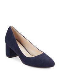 Cole Haan Justine Suede Pumps Navy Blue