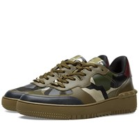Valentino Rock Be Low Top Sneaker Green Camouflage
