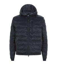 Canada Goose Lodge Down Hooded Jacket Male Black