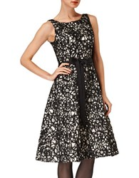 Phase Eight Elidah Fit And Flare Dress Black Oyster