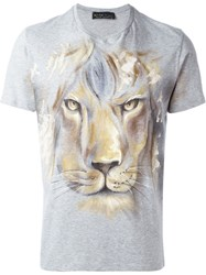 Etro Lion Print T Shirt Grey