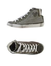Fred Mello High Tops And Trainers Military Green