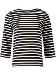 Astraet Striped T Shirt Black