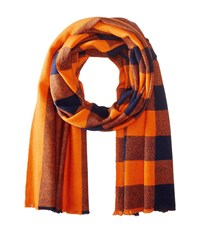 Marc By Marc Jacobs Boiled Wool Plaid Scarf Safety First Multi