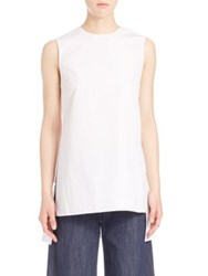 Adam By Adam Lippes Solid Sleeveless Blouse White