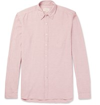 Oliver Spencer New York Special Slim Fit Cotton And Linen Blend Shirt Pink