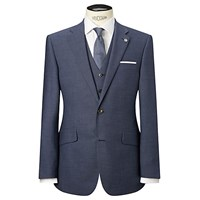 Chester By Chester Barrie Plain Weave Wool Tailored Suit Jacket Airforce