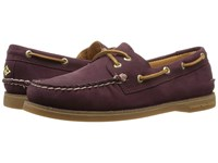 Sperry Gold Cup A O Seasonal Maroon Glitter Women's Lace Up Casual Shoes Brown