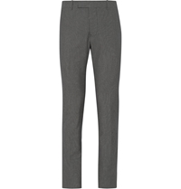 Marni Slim Fit Micro Check Cotton Trousers Gray