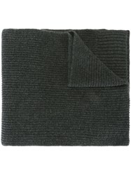 Dolce And Gabbana Ribbed Scarf Grey