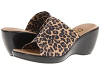 Onex Deena Leopard Elastic Women's Wedge Shoes Animal Print
