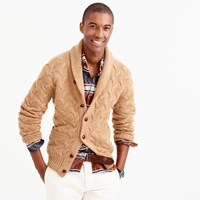 J.Crew Italian Cashmere Cable Knit Shawl Cardigan