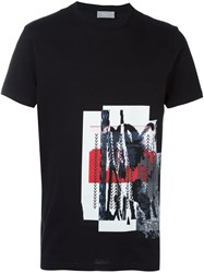 Christian Dior Homme Abstract Print T Shirt Black