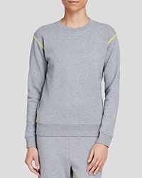 Marc By Marc Jacobs Sweatshirt Sporty Crewneck Elephant Grey Melange Multi