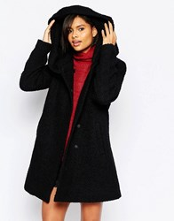 Vila High Neck Coat Black Solid