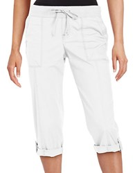 Lord And Taylor Cargo Capri Pants White