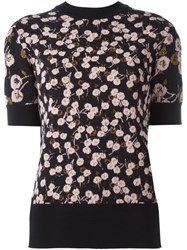Marni Floral Pattern Knitted Blouse Black
