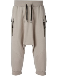 Unconditional Drop Crotch Track Shorts Nude And Neutrals