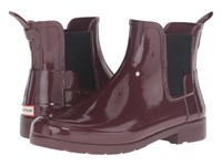 Hunter Original Refined Chelsea Gloss Dulse Women's Rain Boots Brown