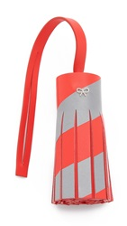 Anya Hindmarch Reflective Tassel Bag Charm Flame Red