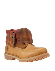 Timberland Authentics Fleece Roll Cuff Boots Wheat