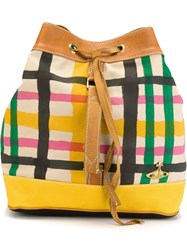 Vivienne Westwood Anglomania Checked Print Backpack Multicolour