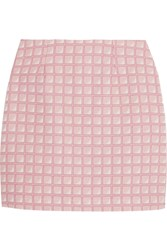 Alexander Lewis Morningside Cotton Jacquard Mini Skirt Pink