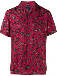 Lanvin Short Sleeved Silk Shirt Red