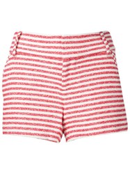 Alice Olivia Alice Olivia Striped Shorts Red