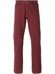Canali Straight Leg Jeans Red