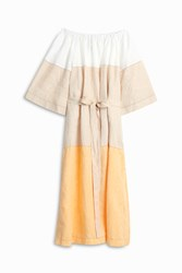Lisa Marie Fernandez Off Shoulder Linen Dress