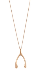 Jennifer Meyer Jewelry Wishbone Necklace Rose Gold
