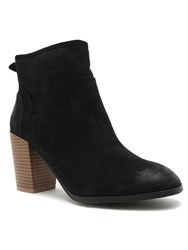 Qupid Wagon Ankle Boot Black